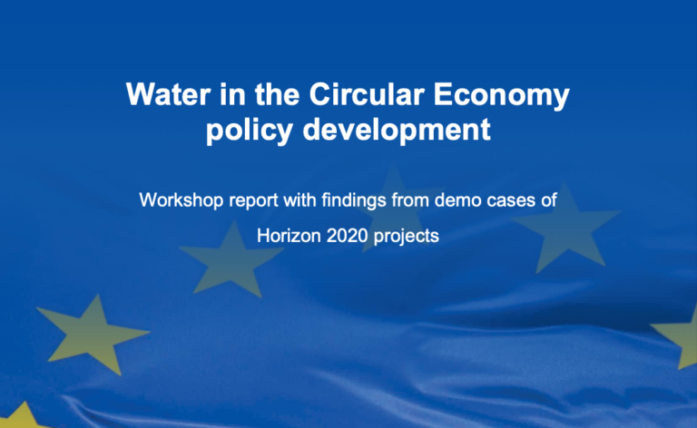 Water in the circular economy policy development report